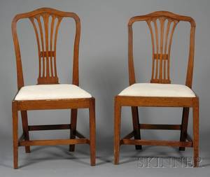 Pair of Federal Mahogany Side Chairs with Upholstered Slip Seats