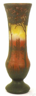 Monumental Daum cameo glass vase