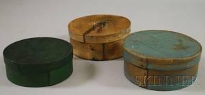 Three Small Round Lappedseam Pantry Boxes