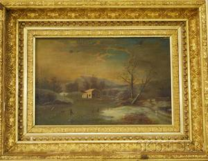 American School 19th Century Winter on the Hudson River