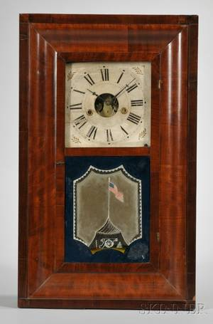 Mahogany Ogee Clock by William S Johnson