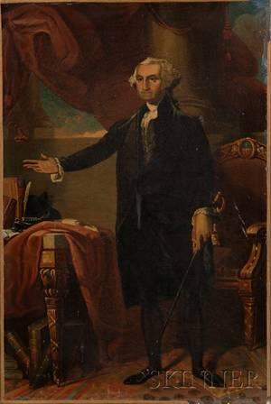 After Gilbert Stuart American 17551828 Portrait of George Washington