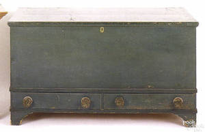 Pennsylvania painted pine blanket chest ca 1810