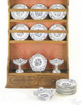 Group of Meissen tableware early 20th c