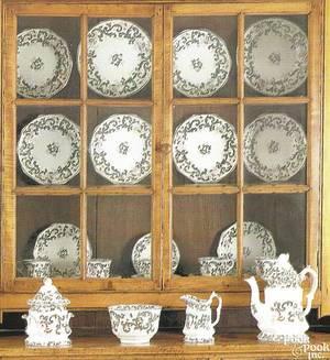 Twentysix piece Gaudy ironstone tea service ca 1840