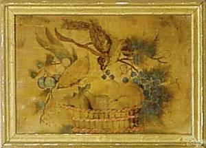 Oil on velvet theorem mid 19th c