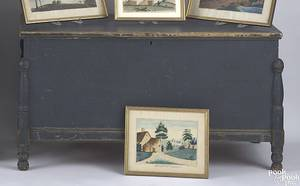 New York painted pine blanket chest ca 1820