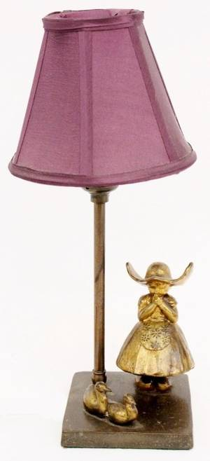 Frankart Art Figural Table Lamp