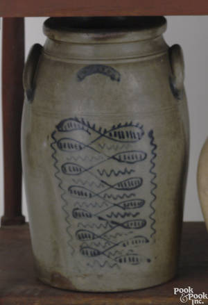 Sixgallon stoneware crock mid 19th c
