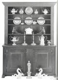 Pennsylvania pine pewter cupboard ca 1760