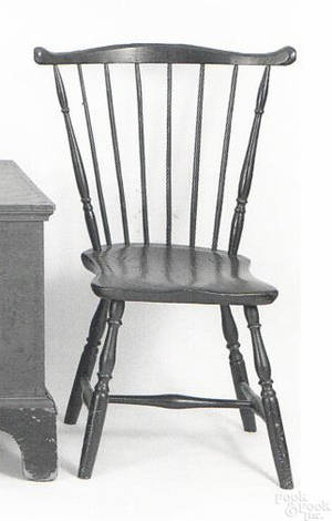 New England windsor fanback side chair ca 1790