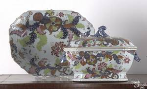 Chinese export porcelain covered tureen and undertray 19th c