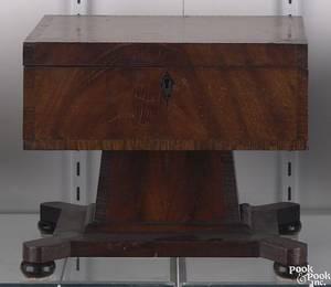 American mahogany dresser box ca 1840