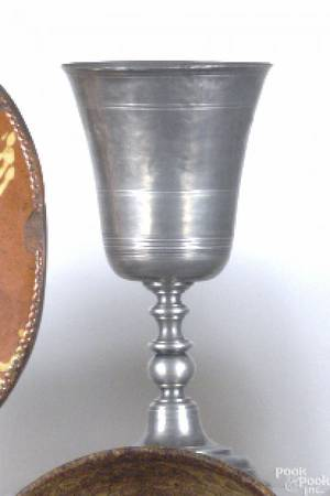 English pewter goblet 19th c