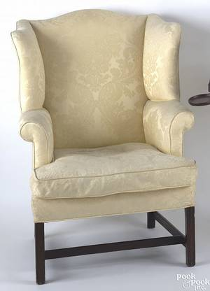 Philadelphia Chippendale mahogany easy chair ca 1780