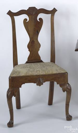 Delaware Valley Queen Anne walnut dining chair ca 1765