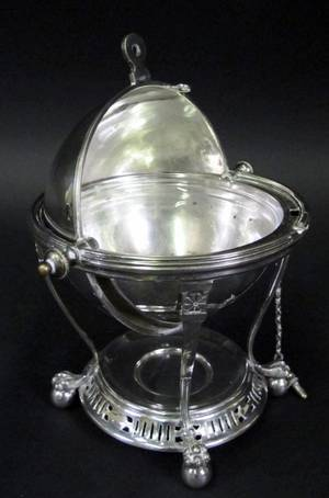 English Silverplated Butter Dish or Egg Coddler