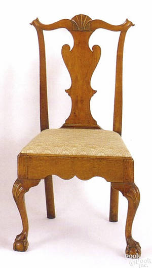 Philadelphia Queen Anne walnut side chair ca1760