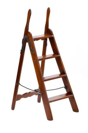 English Folding Simplex Ladder 19th C