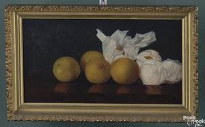 American oil on canvas still life 19th c