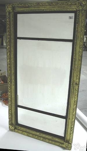 American Federal carved giltwood overmantle mirror ca 1815