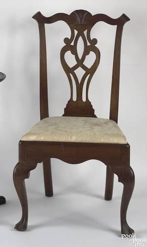 Delaware Valley Queen Anne walnut side chair ca 1760