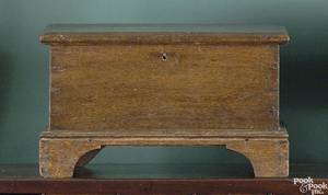 Pennsylvania walnut miniature blanket chest ca 1820