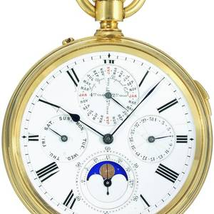 Grande  Petite Sonnerie Clockwatch with Perpetual Calendar Made in Switzerland for the English market
