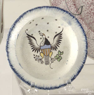 Leeds blue feather edge toddy plate