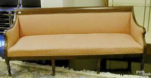 Philadelphia Sheraton mahogany sofa ca 1820