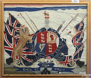 English wooly coat of arms 19th c