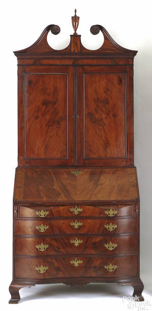 Salem Massachusetts Chippendale mahogany secretary bookcase ca 1790