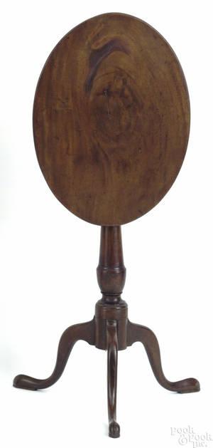 Pennsylvania mahogany candlestand ca 1790