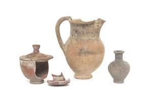 Three Greek Pottery Vessels