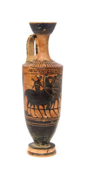 A Greek BlackFigured Pottery Lekythos