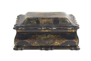 A Victorian Lacquered Table Casket