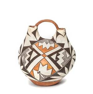 An Acoma Pottery Wedding Vase