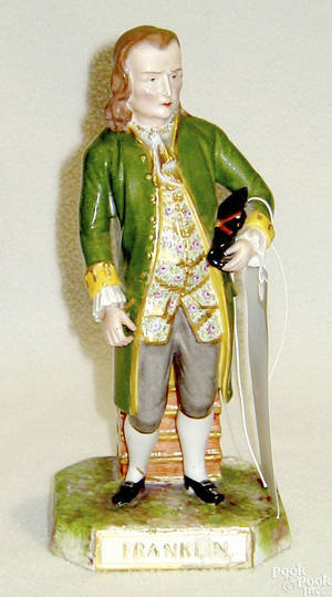 Staffordshire figure of Benjamin Franklin late 19th c