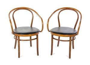 A Pair of Thonet Bentwood Armchairs