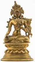 A SinoTibetan Gilt Bronze Figure of Buddha