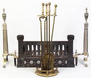 A Pair of Bell Metal Andirons