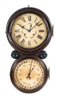 A Victorian Double Dial Wall Clock