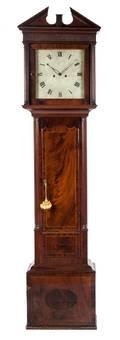 An American Mahogany Tall Case Clock