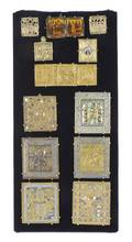 Ten Russian Polychrome Enameled Bronze Icons