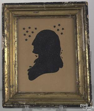 Peale Museum hollow cut profile silhouette early 19th c