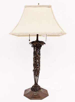 Louis Katona Wrought Iron Lamp