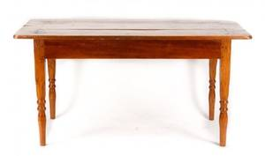 French Stained Pine Farm House Table