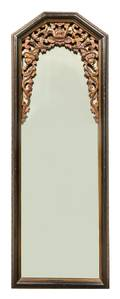 A Chinese Wood Framed Mirror