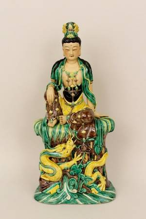 Chinese Porcelain Seated Quan Yin Figure