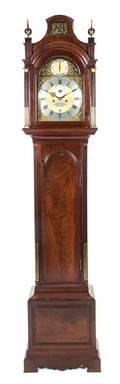 An English Mahogany Tall Case Clock